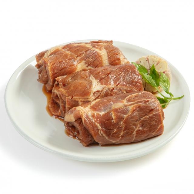 [대한민국명인]돼지양념목살 1kg, 국내산 1등급 돼지고기 치악산금돈